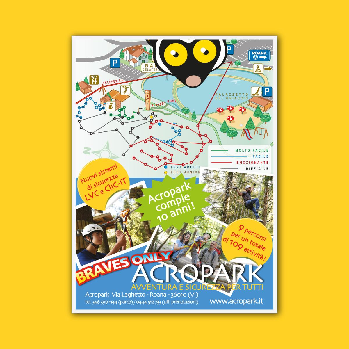 Anteprima dell'inserto pubblicitario di Acropark per la rivista Asiago Dove