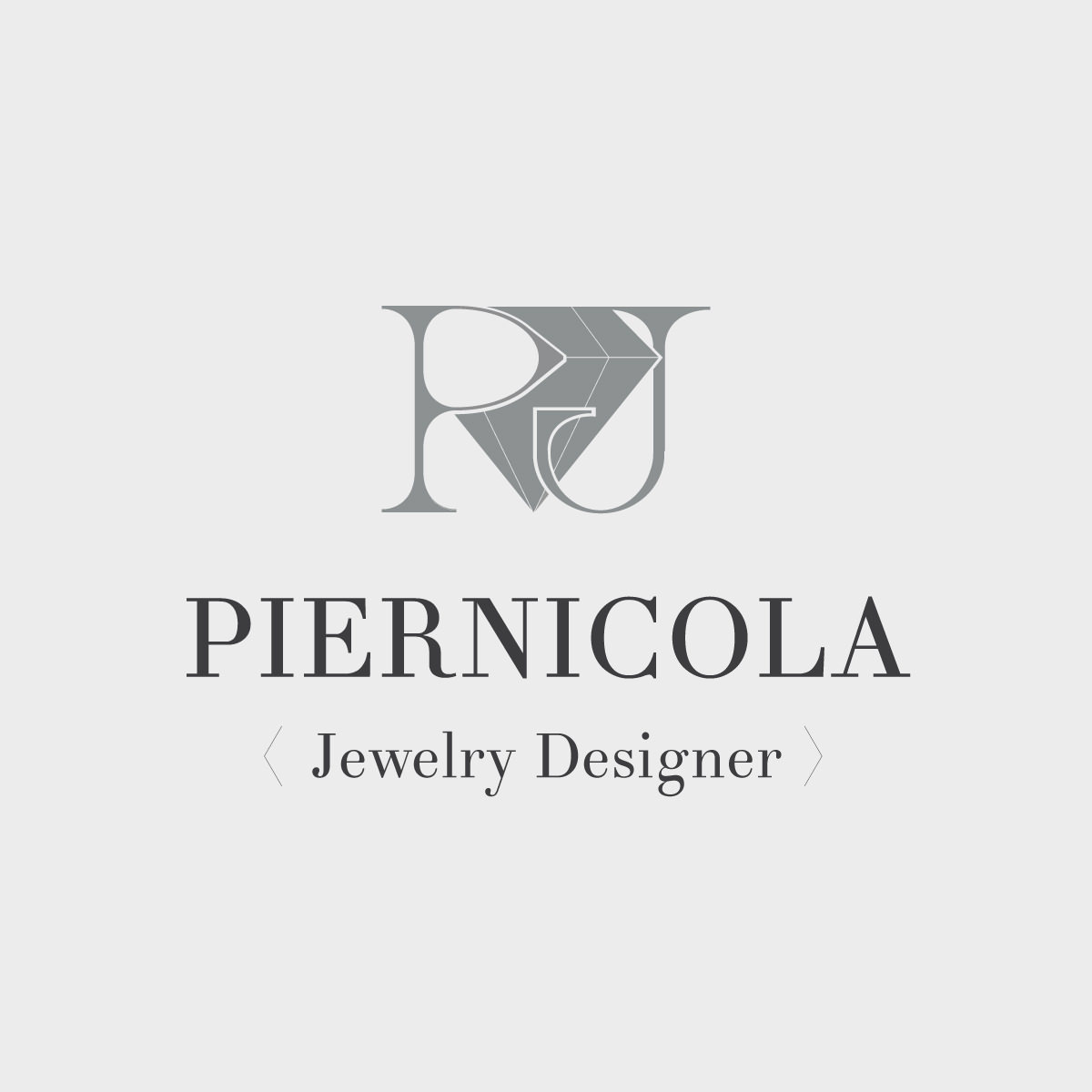 Anteprima del logo per il designer di gioielli Piernicola