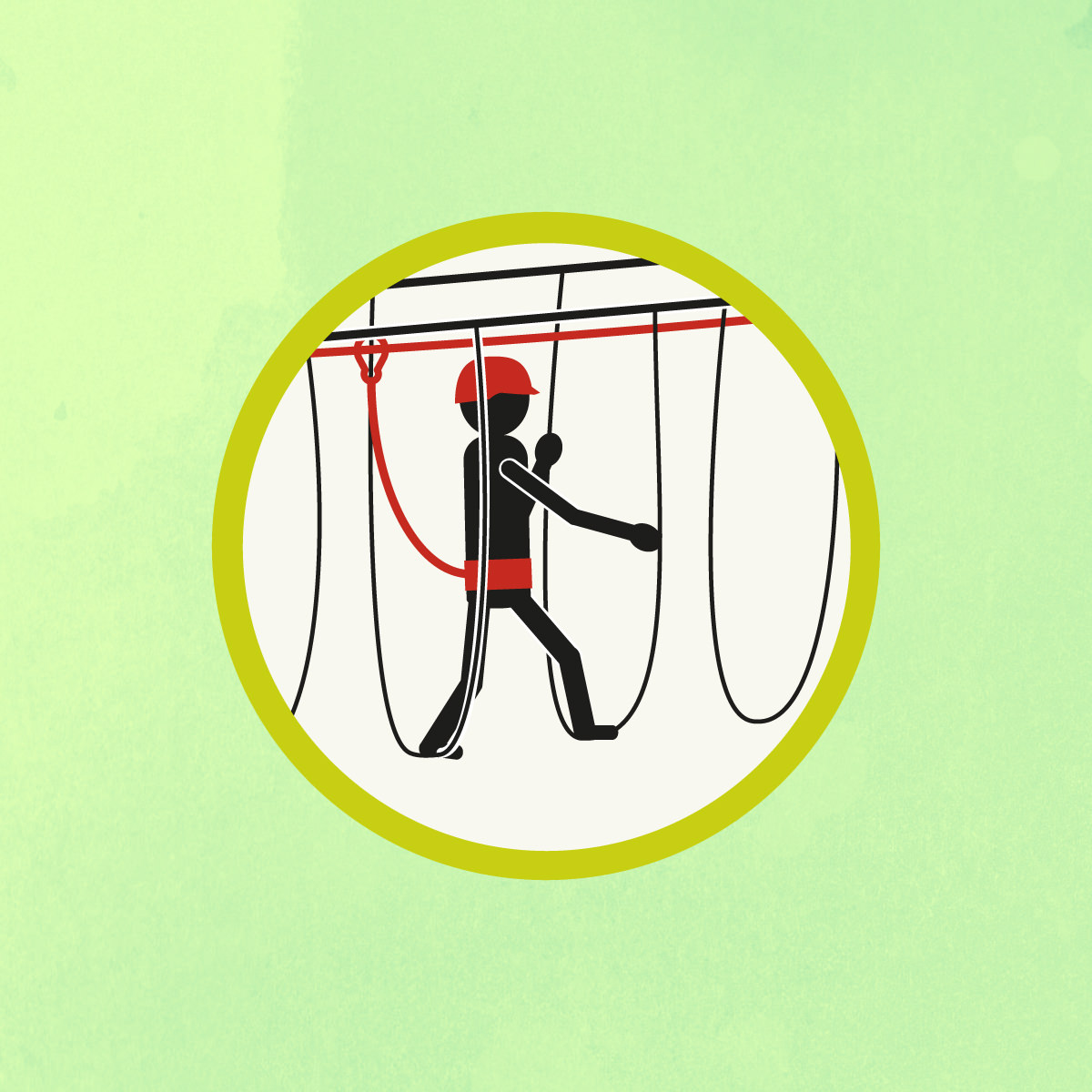 Illustrazione per percorso avventura Acropark