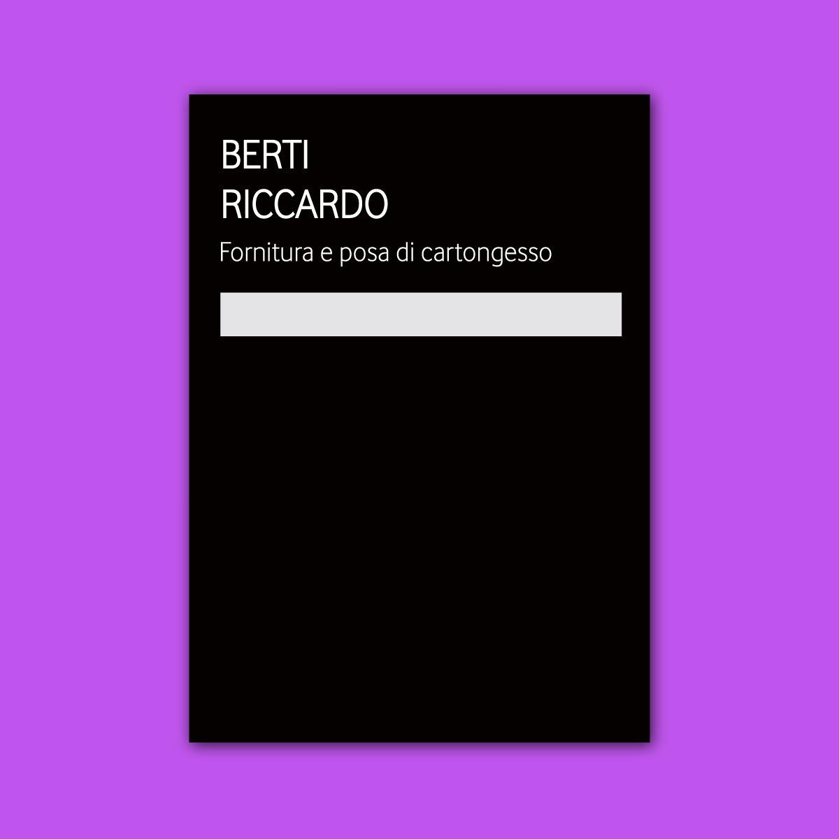 Copertina della brochure di Berti Riccardo